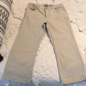 Gap khaki boot cut cropped jean, size 10.